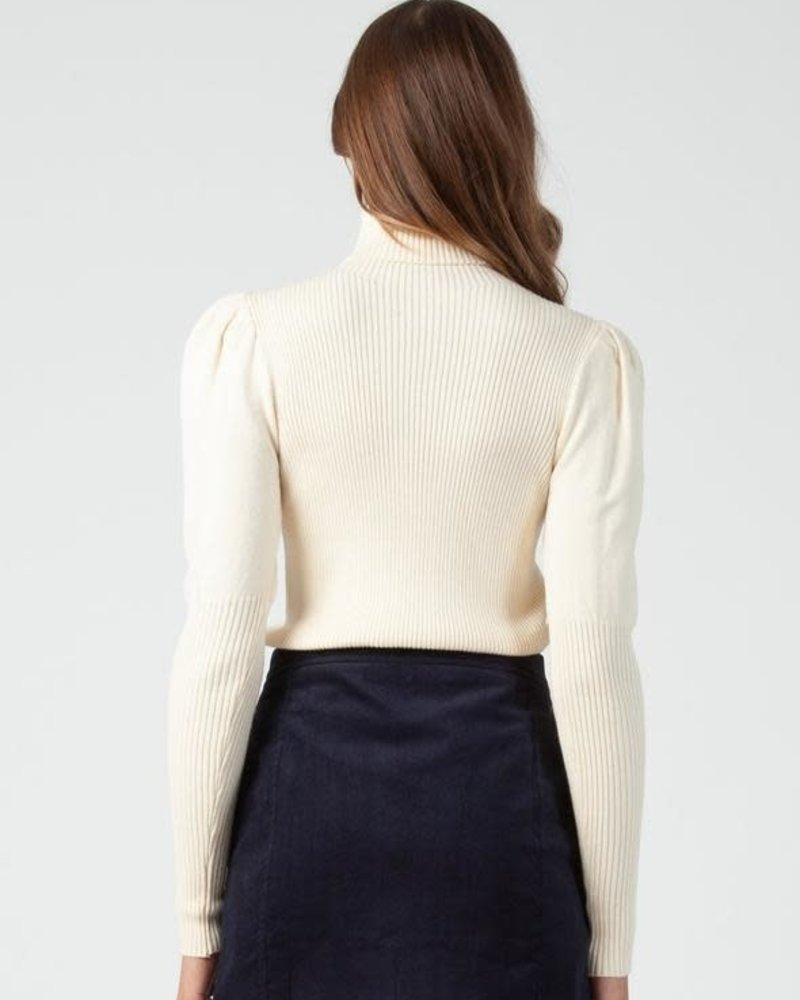 Lucca Couture Lucca 'Bekka' Turtleneck Puff Sleeve Sweater **FINAL SALE**