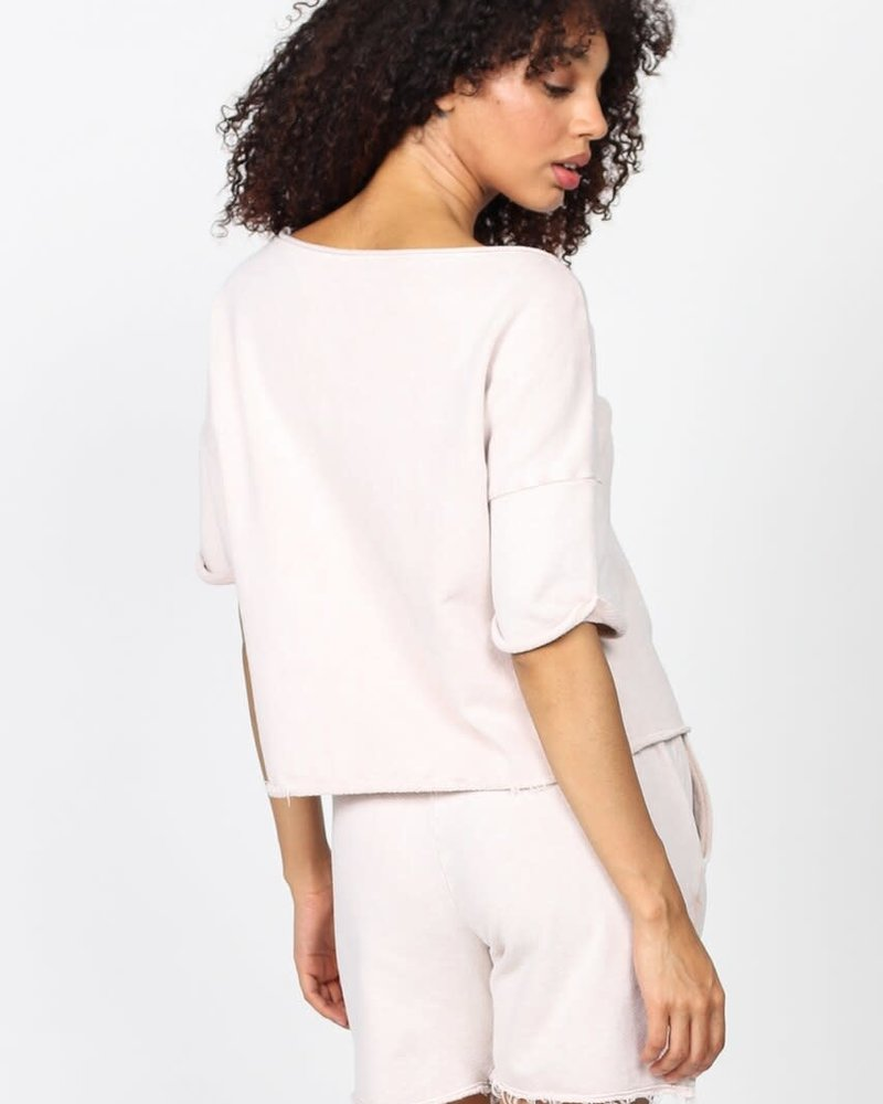 M. Rena M. Rena Mineral Wash Short Sleeve Pullover