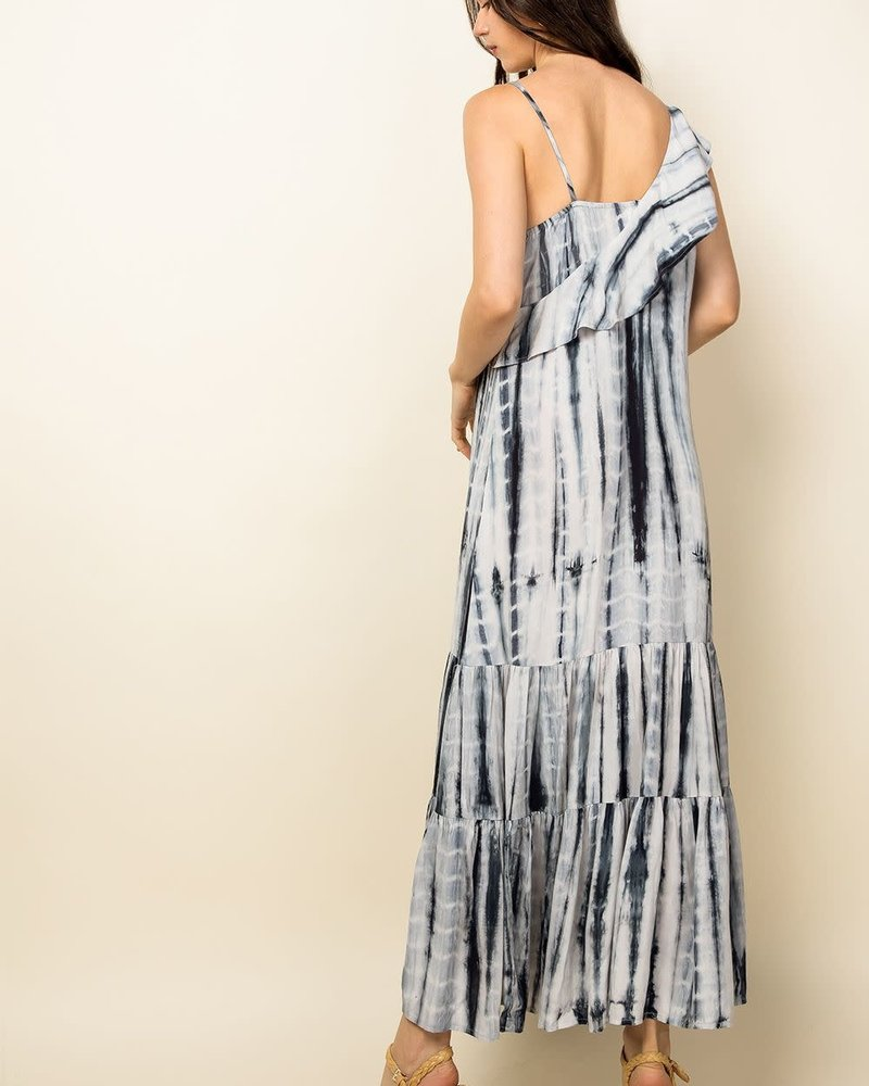 THML THML 'When Night Falls' Tie-Dye Maxi Dress