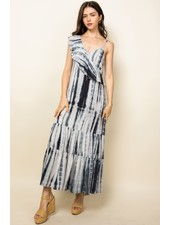 THML 'When Night Falls' Tie-Dye Maxi Dress
