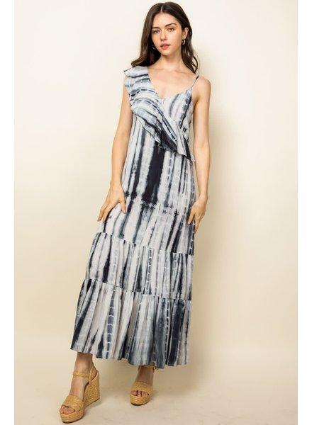 THML 'When Night Falls' Tie-Dye Maxi Dress