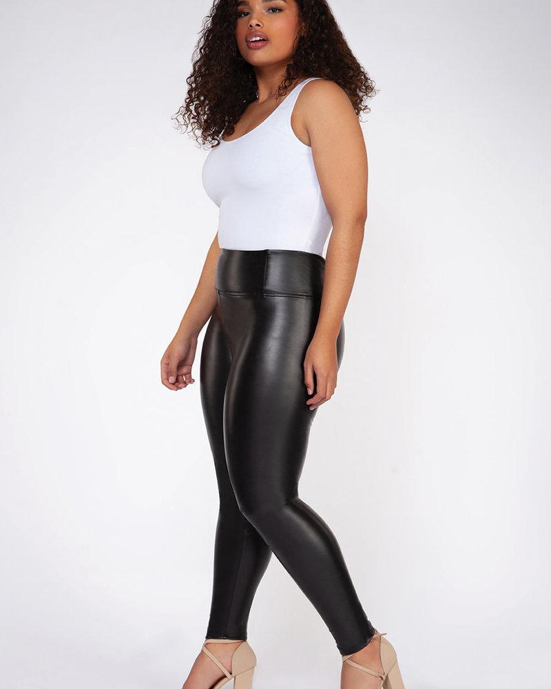Dex Plus Dex Plus High Waisted Faux Leather Legging **FINAL SALE**