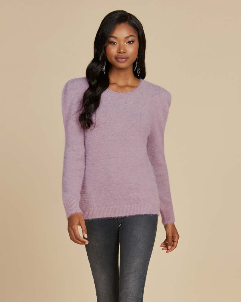 Willow & Clay Willow & Clay Chenille Stitch Bousant Sleeve Sweater **FINAL SALE**