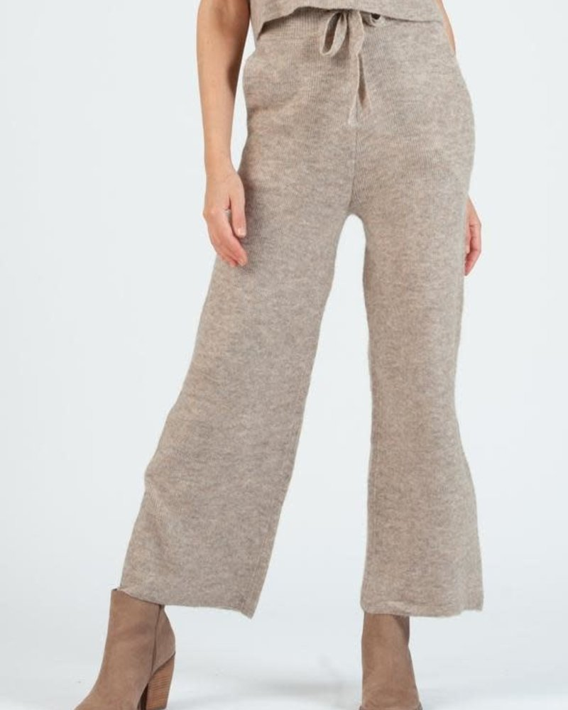 Lucca Couture Lucca 'Teff' Sweater Knit Pants (Large) **FINAL SALE**