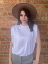 RD Style White 'Shoulder Lean' Sleeveless Top ***FINAL SALE***