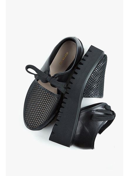 All Black Amazing Flatform Sandals