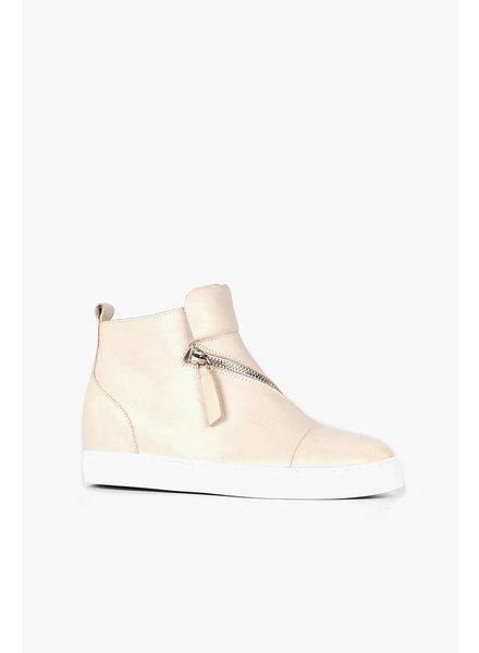 All Black Ivory Hi-Top & Zip Sneaker