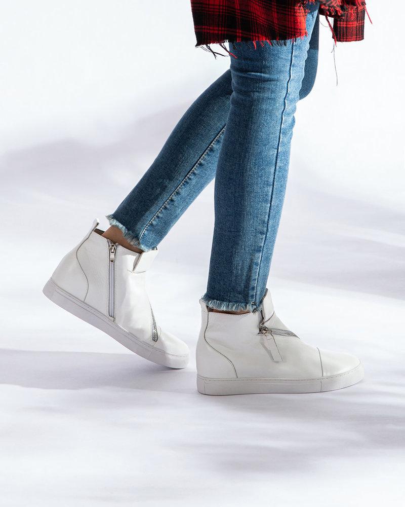 All Black All Black Ivory Hi-Top & Zip Sneaker
