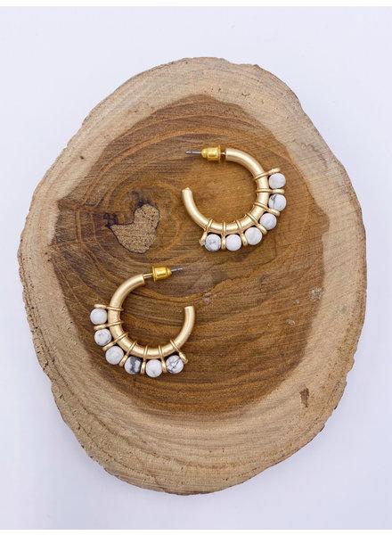 Belle Up 'Stix & Stones' Hoop Earrings (More Colors)