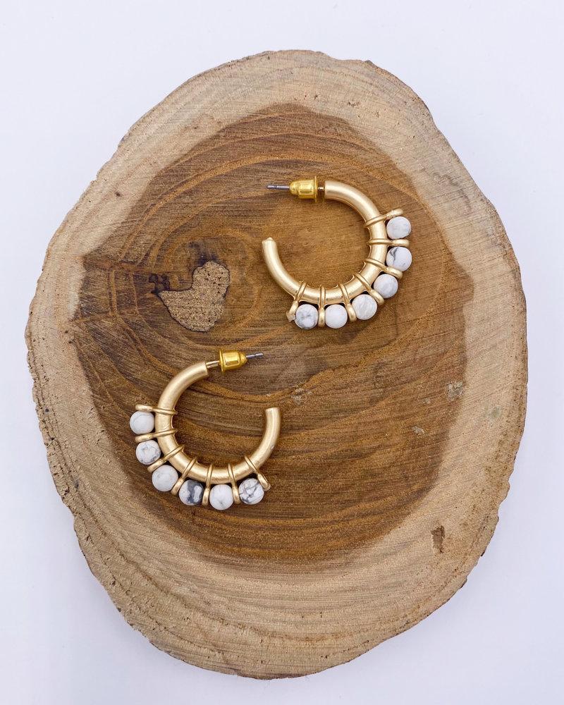 Belle Up 'Stix & Stones' Hoop Earrings