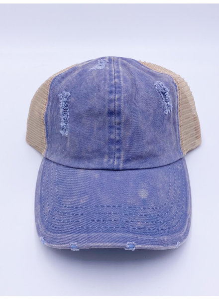 Pony Flo Distressed Baseball Cap (More Colors)