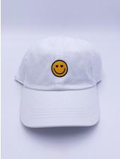 Belle Up 'Googley Eyes' Logo Baseball Cap   White