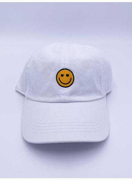 Belle Up 'Googley Eyes' Logo Baseball Cap | White
