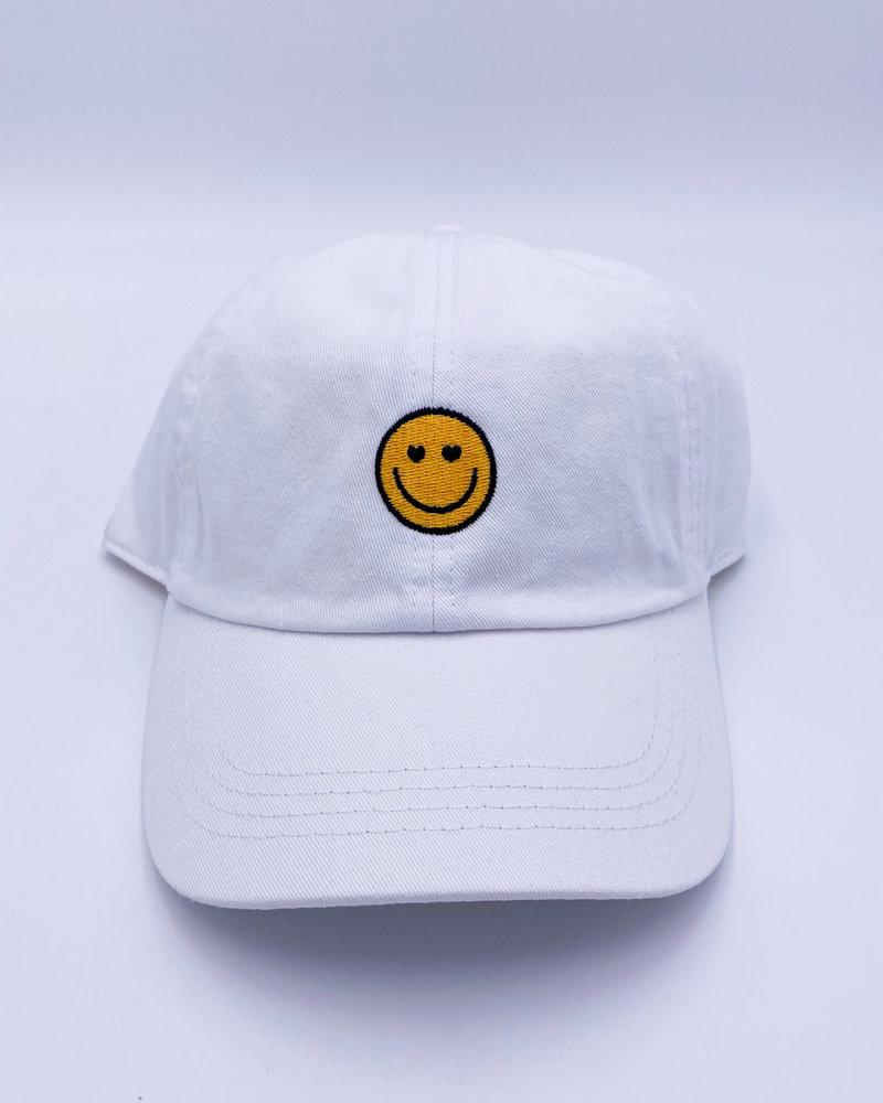 Belle Up Googley Eyes Logo Baseball Cap | White