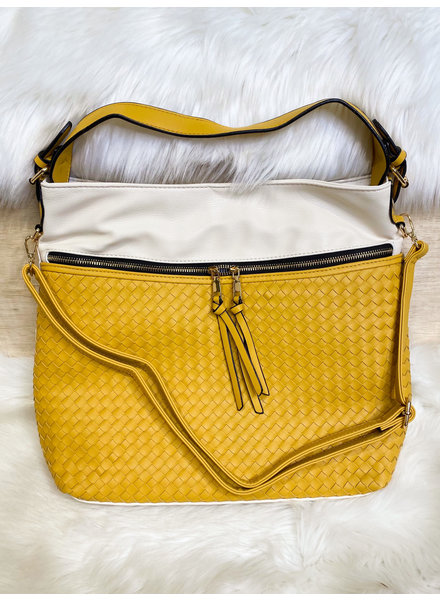 Belle Up 'Unbe-weave-able' Two-Tone Tote (More Colors)