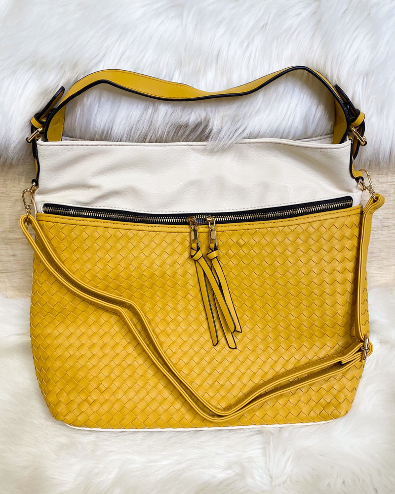 Belle Up 'Unbe-weave-able' Two-Tone Tote **FINAL SALE**