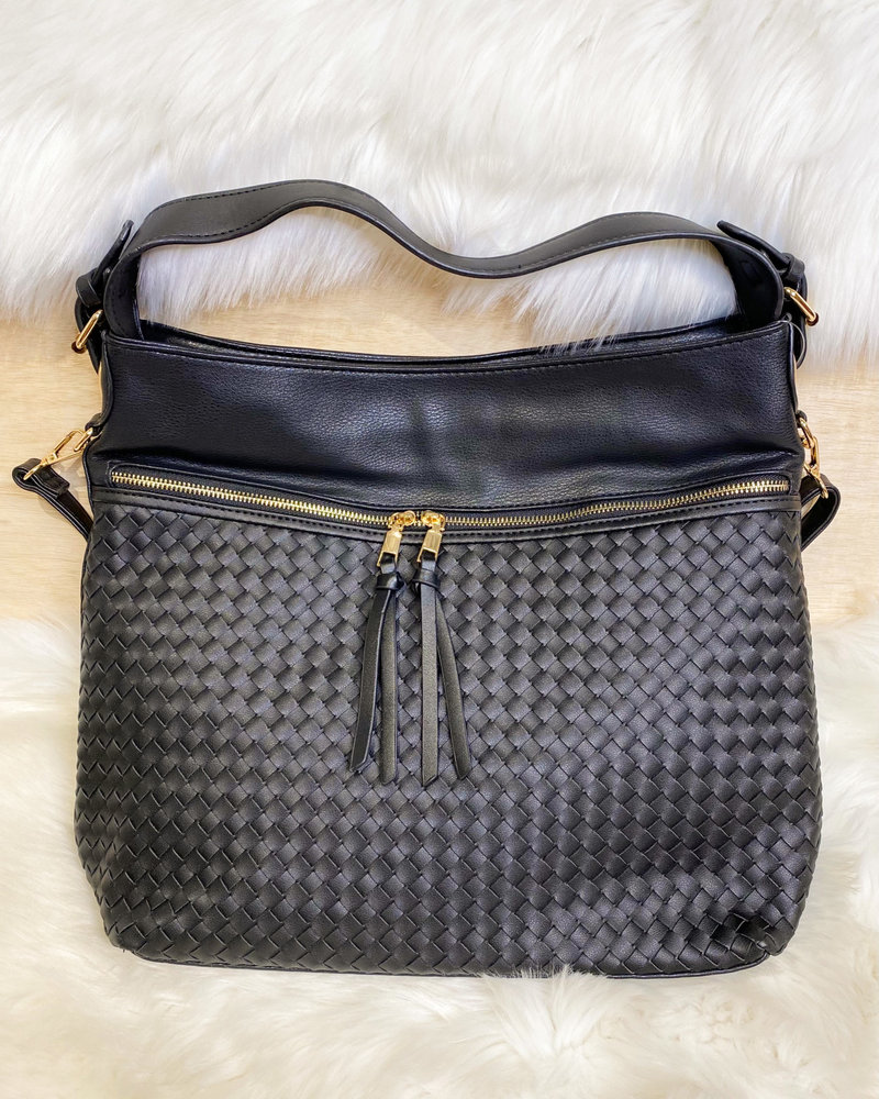 Belle Up 'Unbe-weave-able' Two-Tone Tote