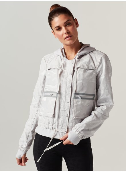 Blanc Noir Grey Camo Skyfall Aviator Jacket