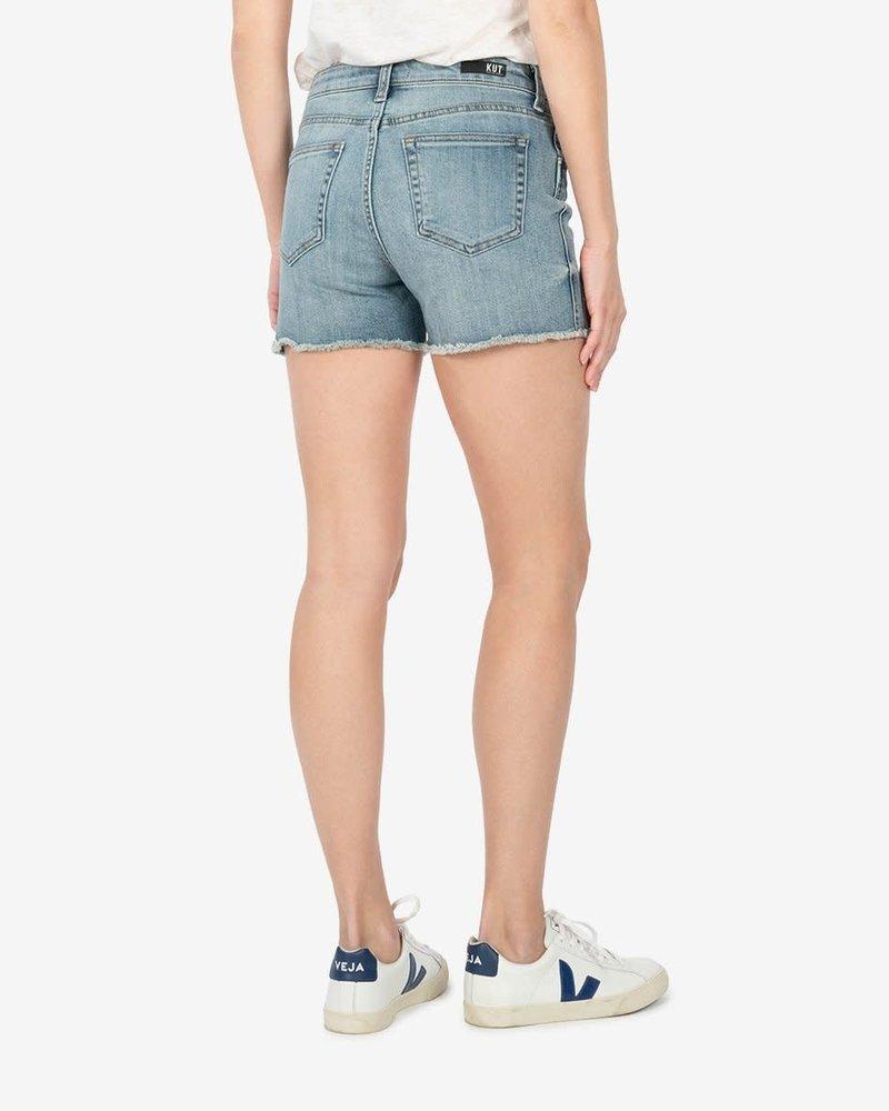 Kut from the Kloth Kut from the Kloth 'Gidget' Frayed Shorts in Traveler