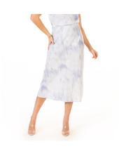 Black Tape 'Blue Cloudy Skies' Midi Skirt **FINAL SALE**