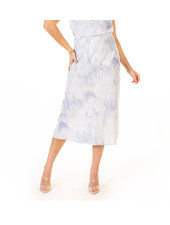 Black Tape 'Blue Cloudy Skies' Midi Skirt