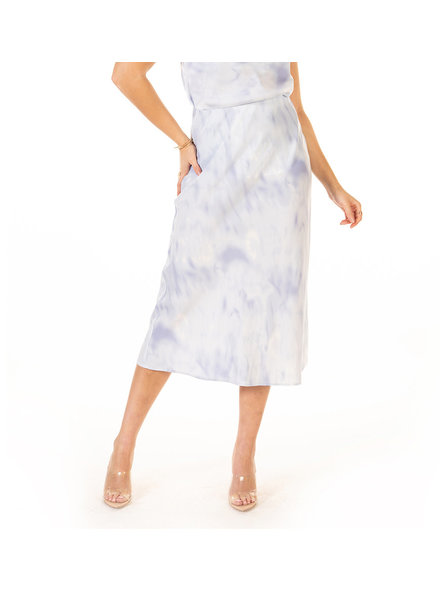 Black Tape 'Blue Cloudy Skies' Midi Skirt
