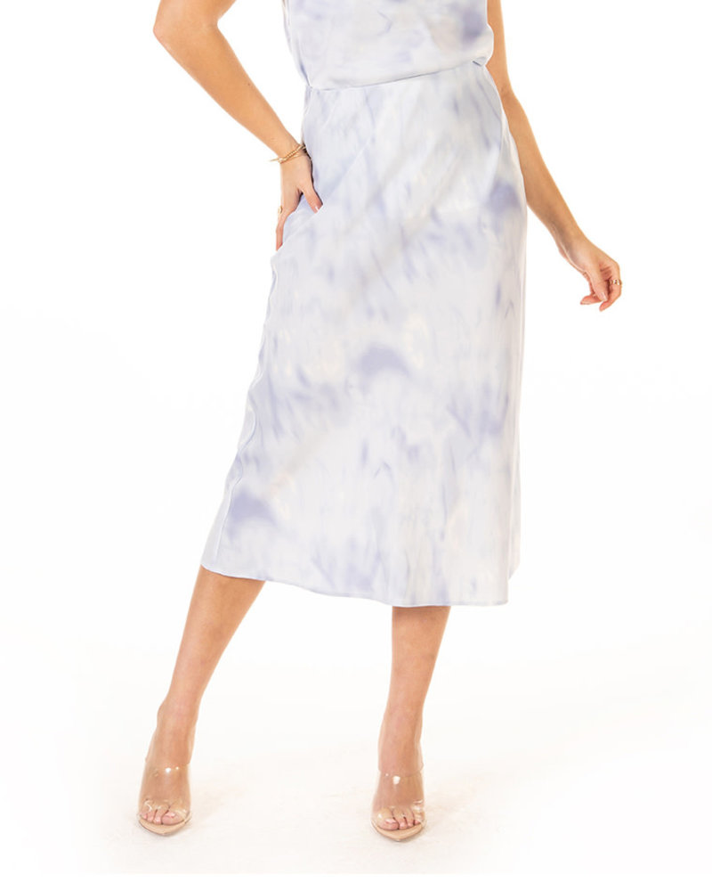 Black Tape Black Tape 'Blue Cloudy Skies' Midi Skirt