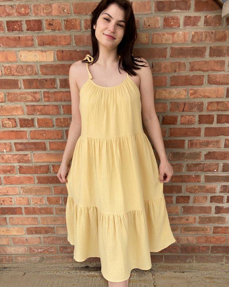 KLD Signature KLD Signature Yellow 'A Ray Of Sunshine' Dress