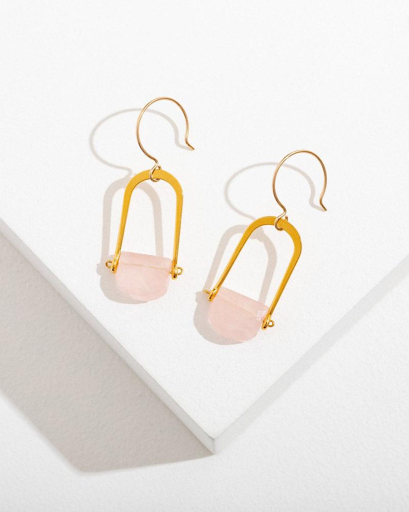 Larissa Loden Larissa Loden Rose Quartz 'Teara' Earrings
