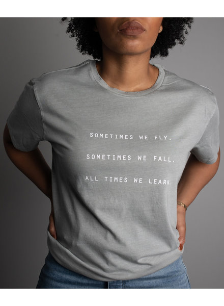 Know Purpose 'All Times We Learn' Distressed Tee