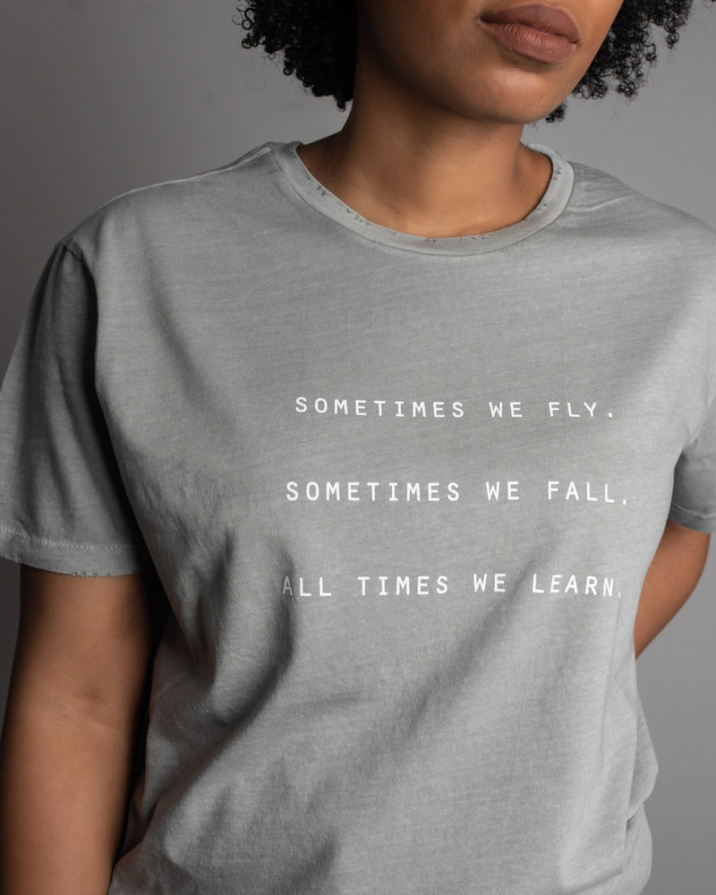 Know Purpose Know Purpose  'All Times We Learn' Distressed Tee