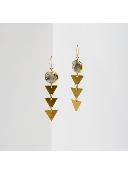 Larissa Loden 'Pasiphae' Earrings | Labradorite
