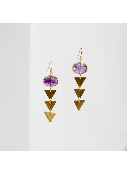 Larissa Loden 'Pasiphae' Earrings | Amethyst