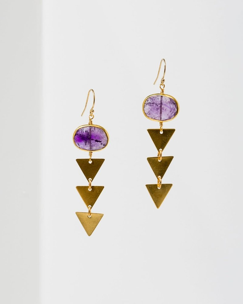 Larissa Loden Larissa Loden Amethyst 'Pasiphae' Earrings
