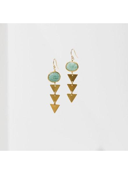 Larissa Loden 'Pasiphae' Earrings | Amazonite
