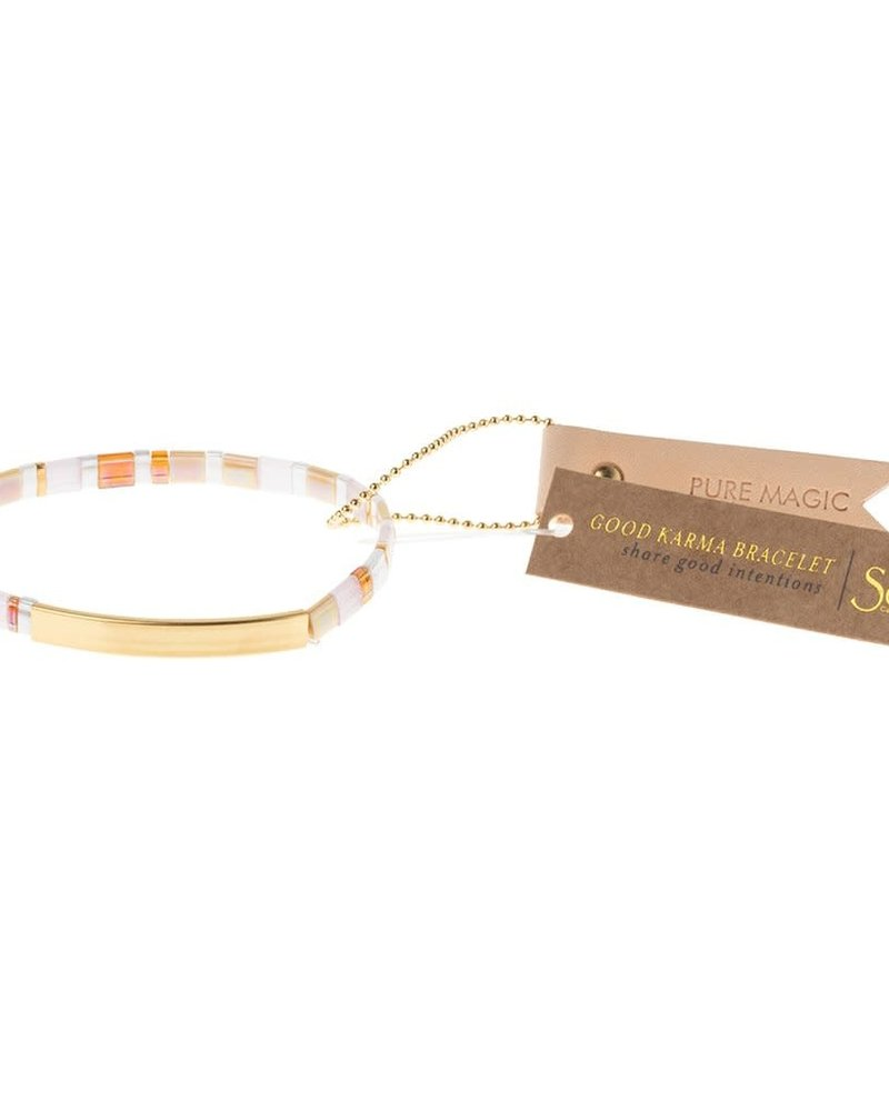 Scout Curated Wears Scout Good Karma Miyuki Bracelet - Pure Magic in Neutral/Gold