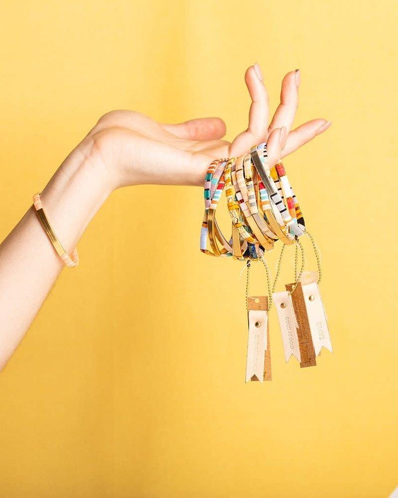 Scout Curated Wears Scout Good Karma Miyuki Bracelet - Pure Magic in Neutral/Gold