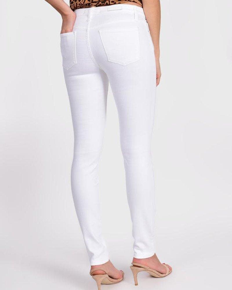Lila Ryan Lila Ryan Louise Mid Rise Skinny Jean in White **FINAL SALE**