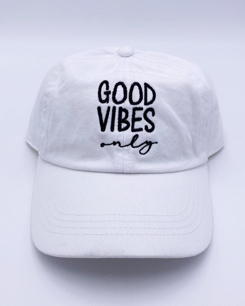 'Good Vibes' Logo Baseball Cap