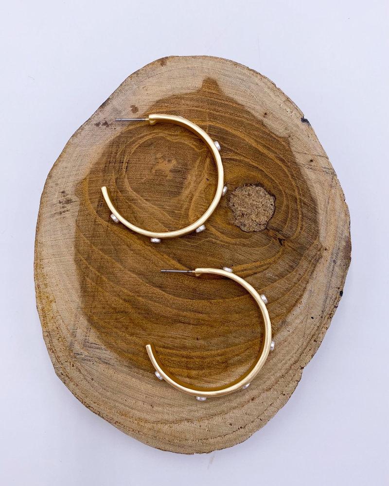 Belle Up 'Pebbles & Bam' Hammered 2-Tone Hoop Earrings