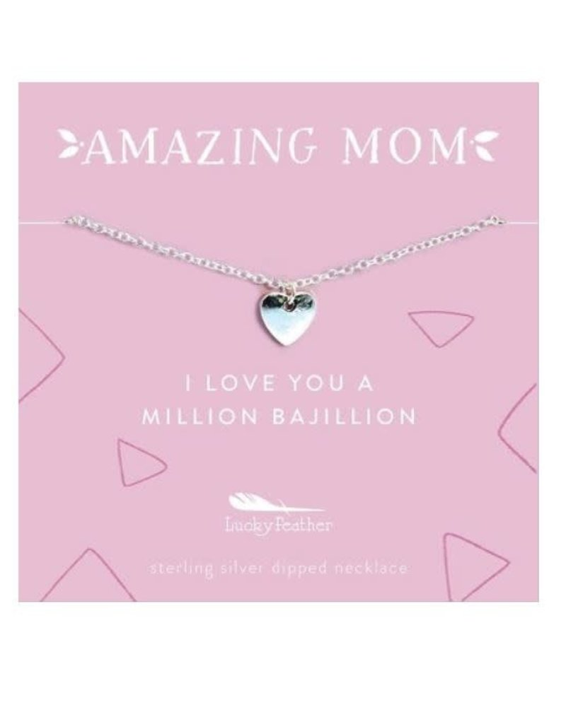 Lucky Feather Lucky Feather Amazing Mom Necklace | Love Heart