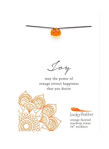 Lucky Feather Color Power Necklace | Joy