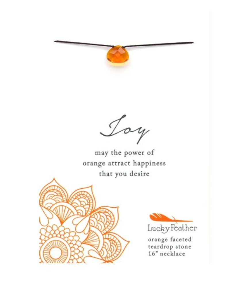 Lucky Feather Lucky Feather Orange 'Color Power' Necklace | Joy