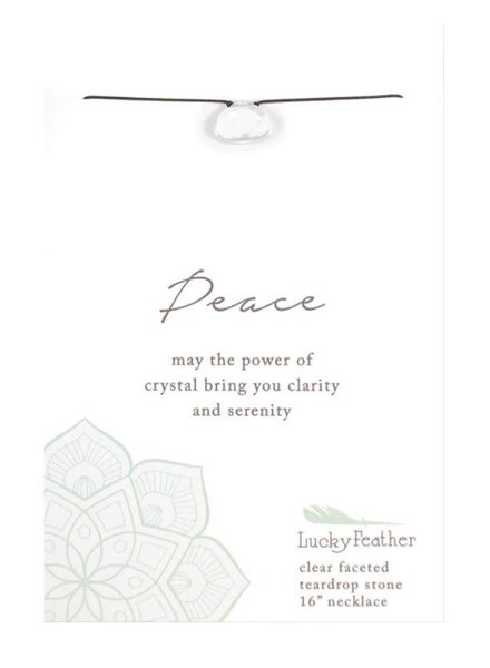 Lucky Feather Color Power Necklace | Peace
