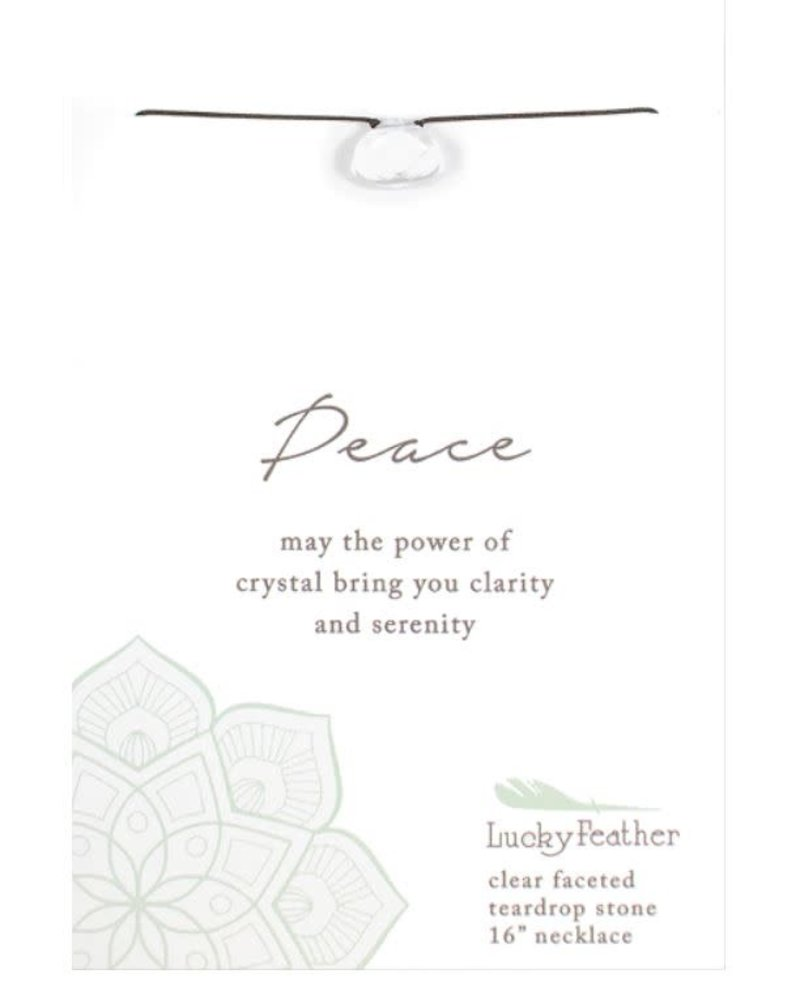 Lucky Feather Lucky Feather Clear 'Color Power' Necklace | Peace