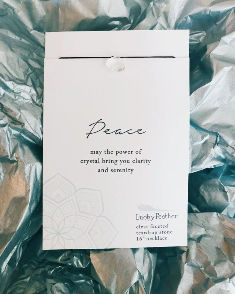 Lucky Feather Lucky Feather Color Power Necklace | Peace