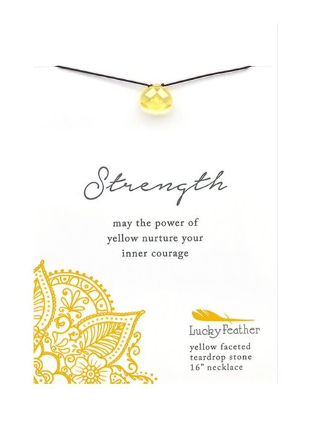 Lucky Feather Color Power Necklace | Strength