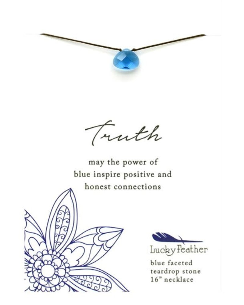 Lucky Feather Lucky Feather Blue 'Color Power' Necklace   Truth