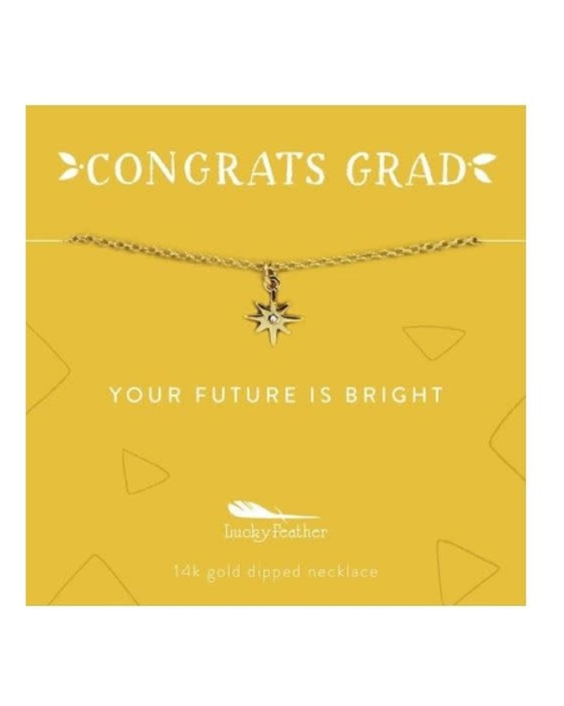 Lucky Feather Lucky Feather Congrats Grad Necklace | Future Is Bright