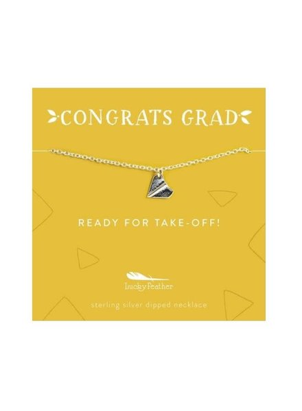 Lucky Feather Congrats Grad Necklace | Ready for Takeoff